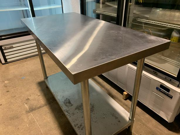 STAINLESS STEEL WORK TABLE  48'' X  24''