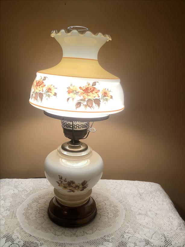 Vintage Retro Electric Floral Lamp