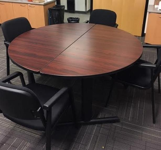Two half moon tables/conference meeting table