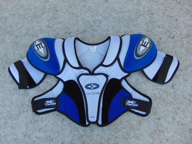 Hockey Shoulder Chest Pad Men's Size Large Easton Blue White Excellent