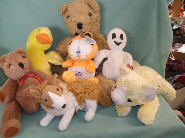 Ty Beanie Babys Old Bear - Baby Garfield - Cat - Dog - Duck - Gost etc