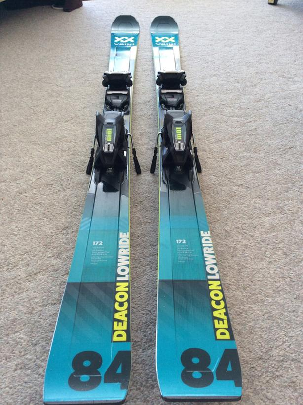 2020 Volkl  Deacon 84 skis, 172 cm, with binding