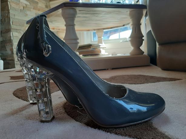 Michael Antonio womens high heals - grey and silver