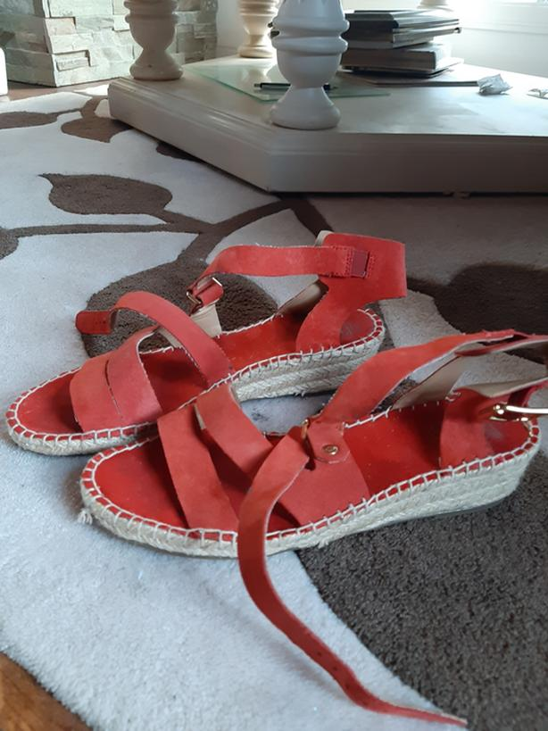 Franco Sarto Wedge heels - red and beige