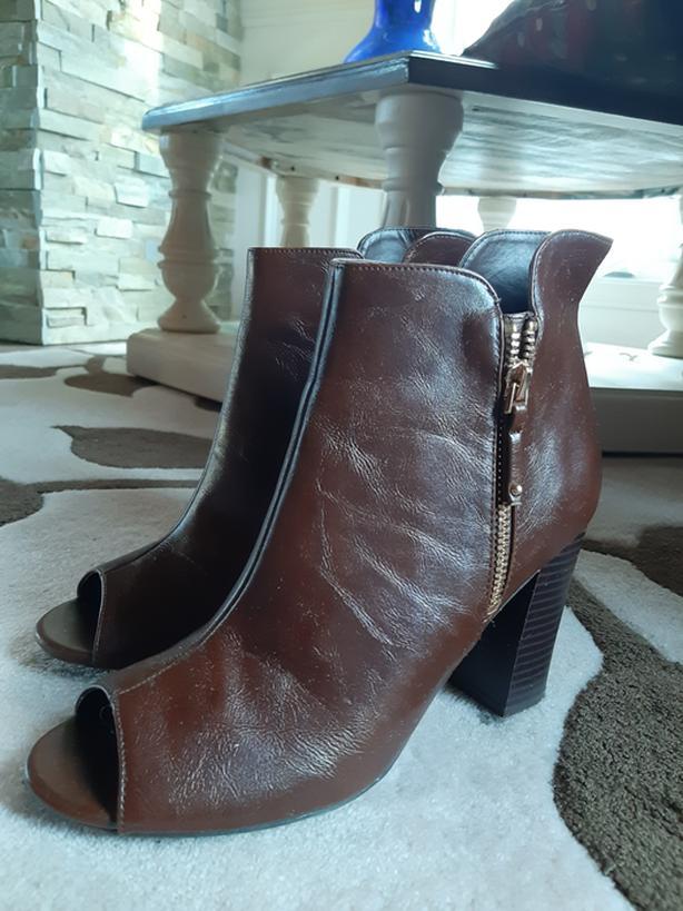 Bamboo Heel boots - brown