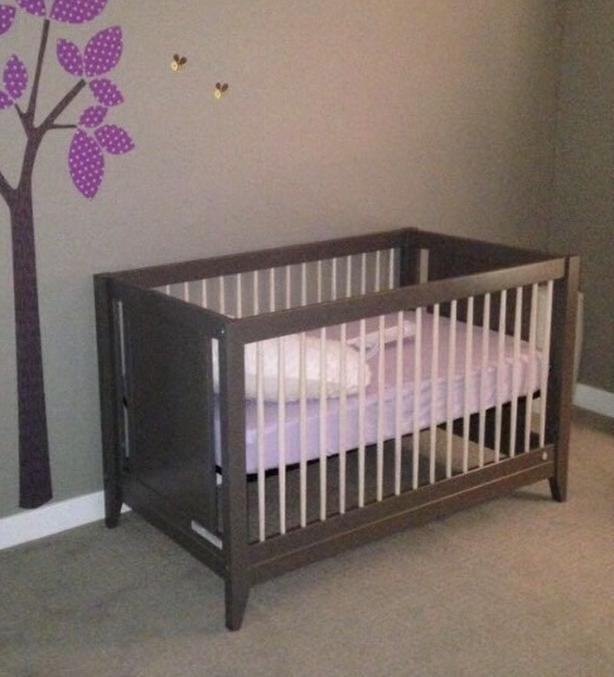 4-in1 Honest Co. Crib and Organic Naturepedic Mattress