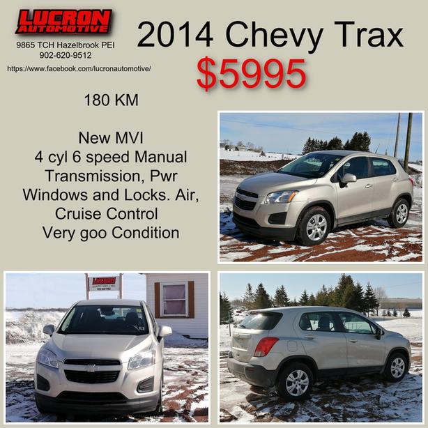 For sale 2014 Trax