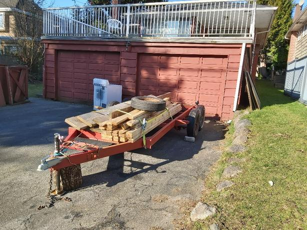 Trailer twin axle