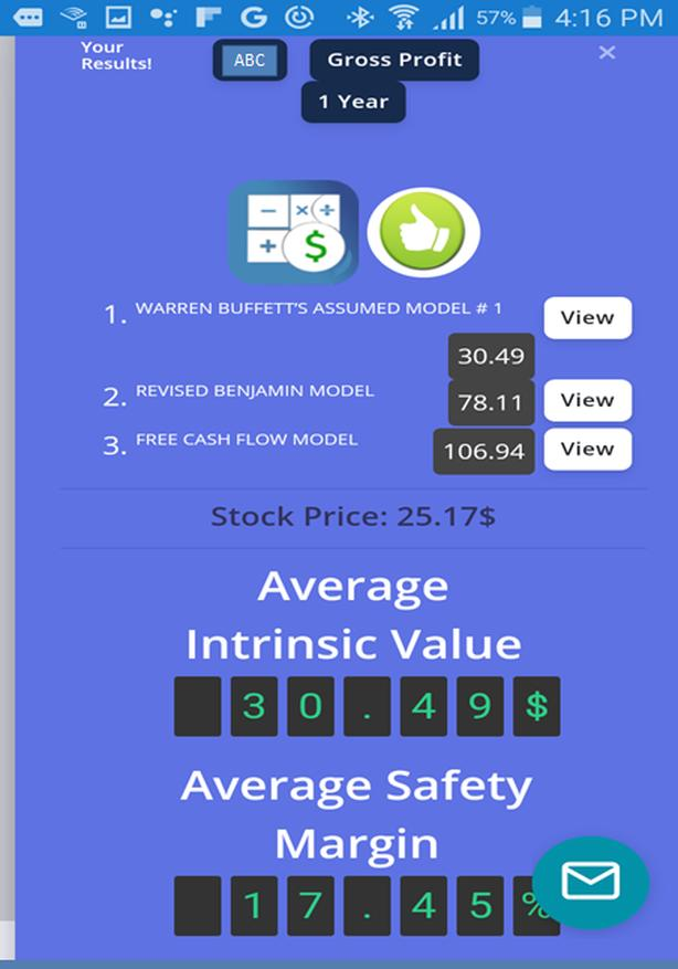 We deliver intrinsic results of stocks trading on the NYSE