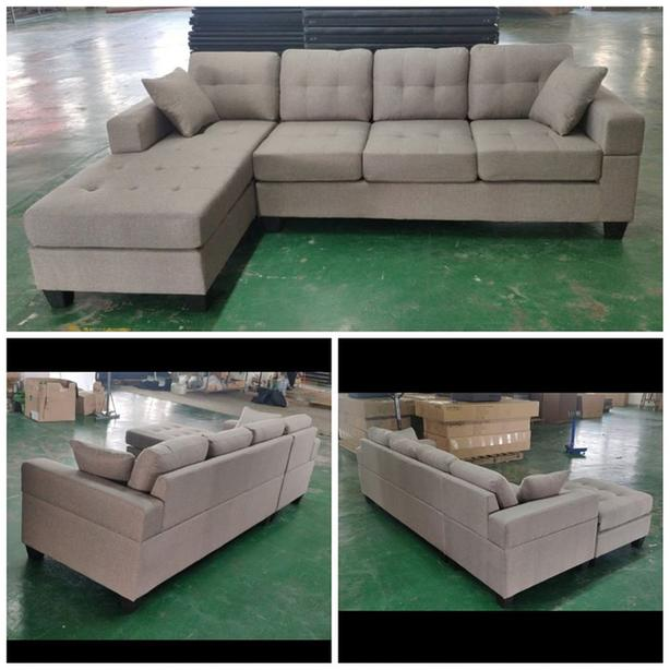 New Arrival! Brand New 4 seater lounge corner sofa with reversible chaise