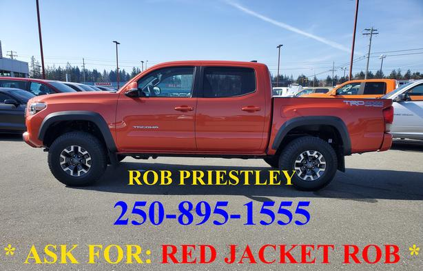 2017 TOYOTA TACOMA CREW CAB TRD OFF ROAD 4X4 * ask for RED JACKET ROB *