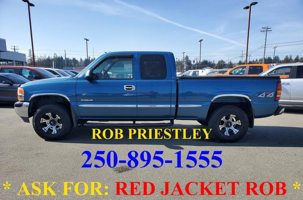 2001 GMC SIERRA 1500 EX/CAB SLE 4X4 * ask for RED JACKET ROB *