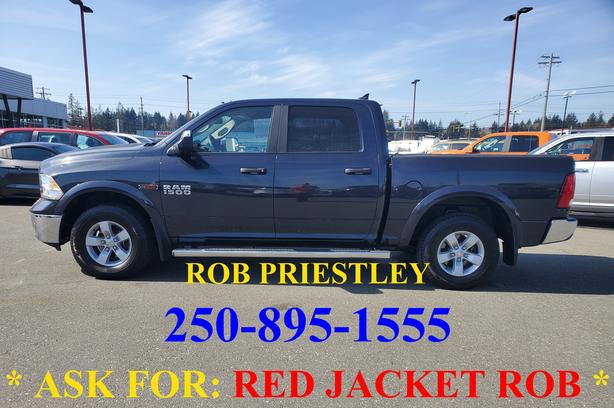 2018 RAM 1500 CREW CAB OUTDOORSMAN 4X4 * ask for RED JACKET ROB *