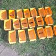 19 small parts bins