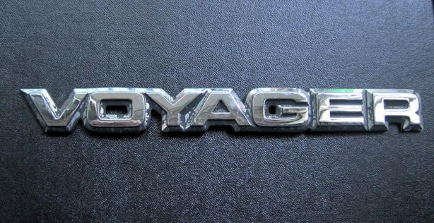 Plymouth Voyager Badge, Owner's Manual 1987