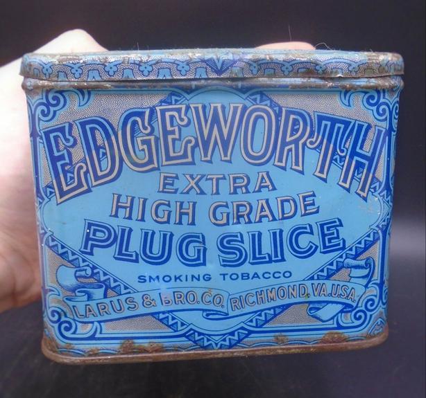 VINTAGE 1920's EDGEWORTH SMOKING TOBACCO TIN