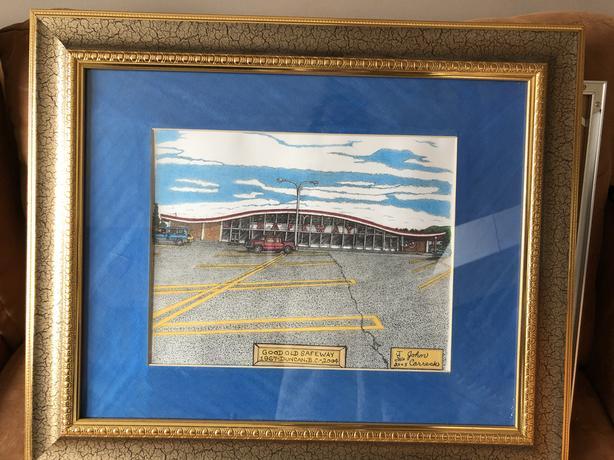 """Framed John Carreck Painting """"Good Old Safeway"""""""