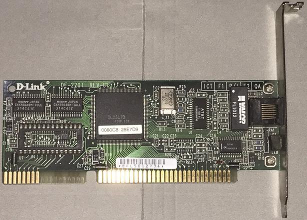 D-Link DE-220T Rev-C1 ISA 10Base-T Ethernet card