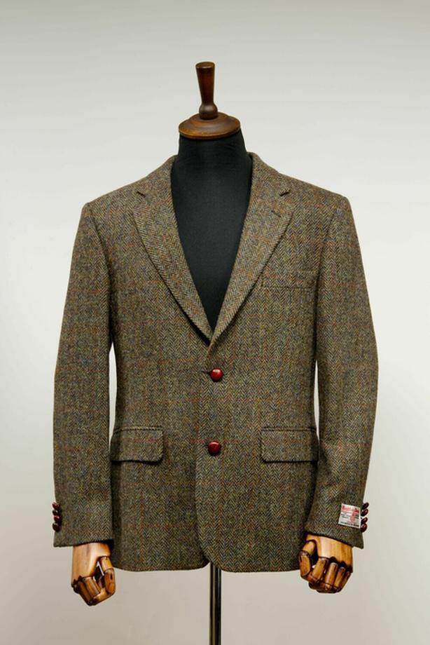 Handwoven Harris Tweed Jacket, size 38R