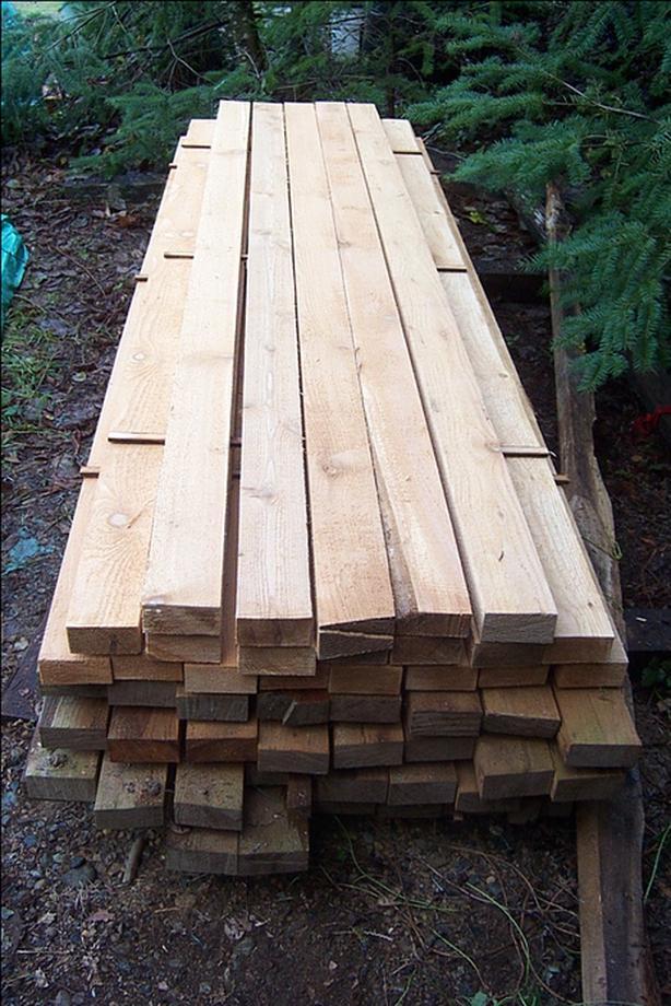 Cedar 2 x 4s