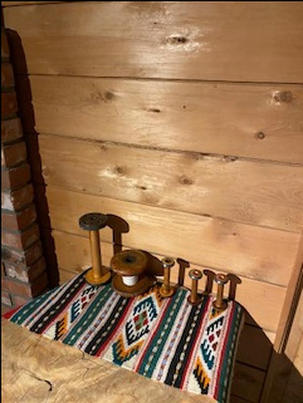 5 Vintage Wood Textile Mill Spools