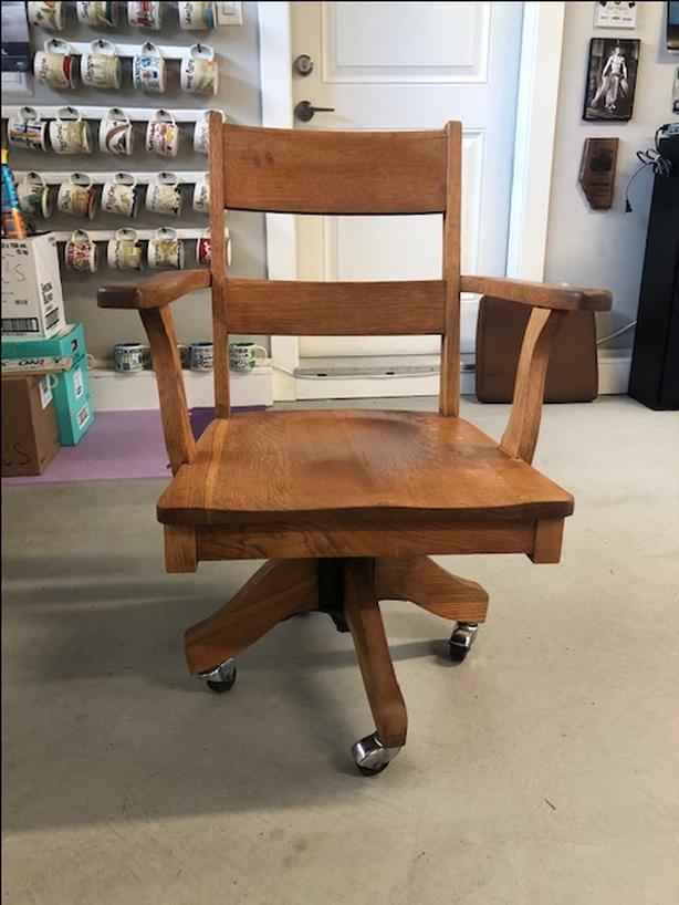 Vintage Solid Wood Desk Chair
