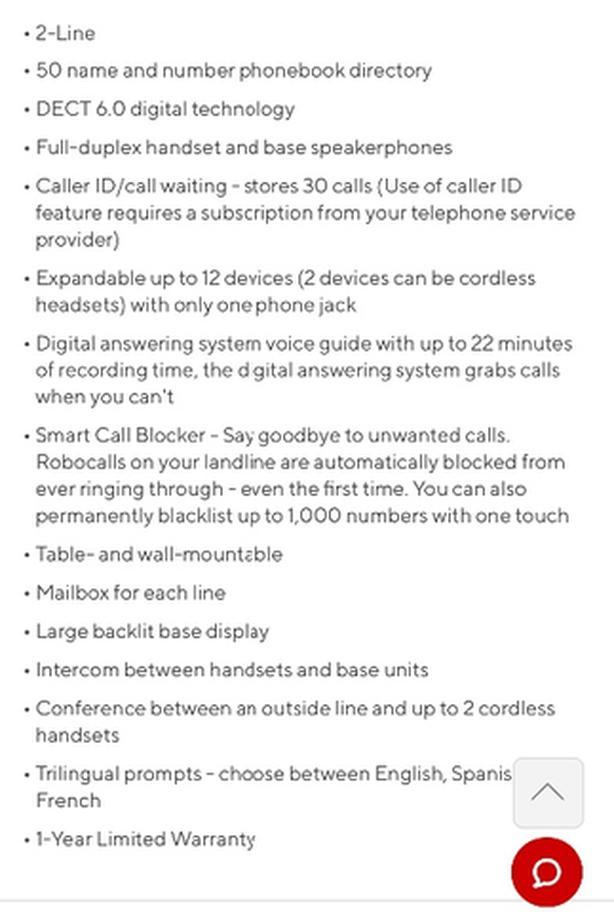 2 Line Cordless Phone