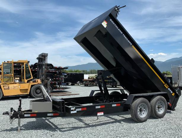 FREE DELIVER TO NANAIMO ***SALE*** New Southland Dump Trailer 7X14 14,000lbs