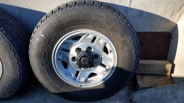 4 - 235/75R 15 Rotiva Extra Load Tires on Toyota 6 bolt alloy rims
