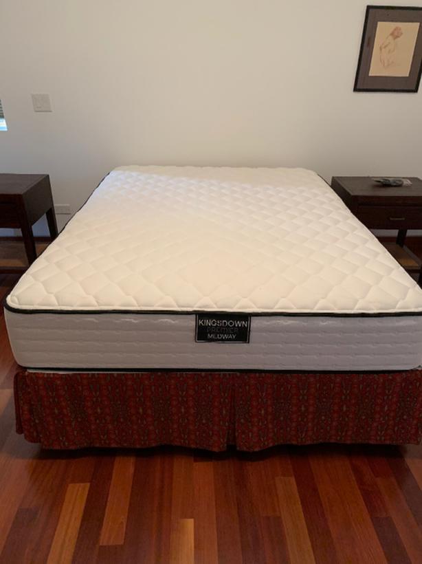 Queen mattress, box spring and frame
