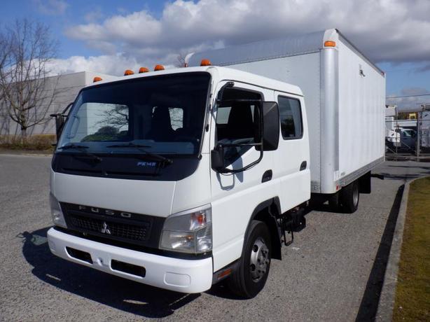 2009 Mitsubishi Fuso FE84W Cube Van 16 foot Crew Cab Diesel
