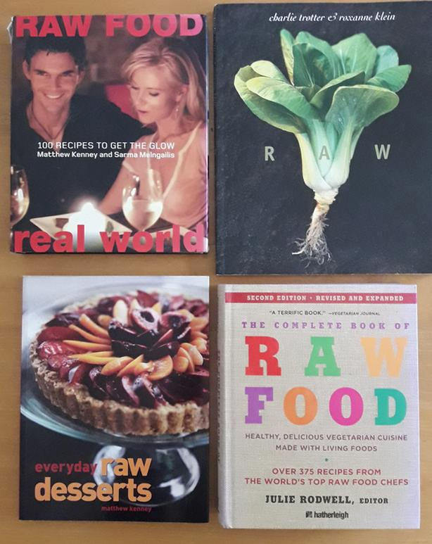 8 Raw Food Books - Healthy Eating