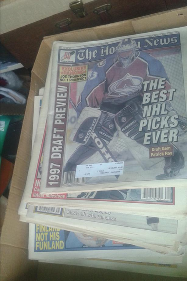 box of old hockey news (no puns intended)