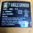 """Power Fist 7"""" Angle Grinder"""