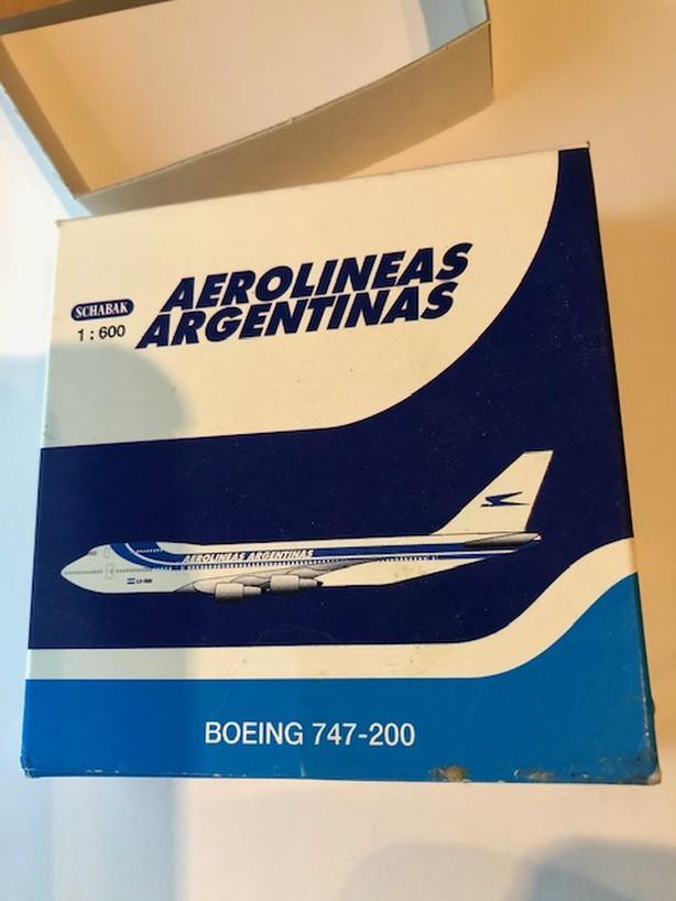 Schabak 1:600 cast Aerolineas Argentinas Boeing 747-200 model aircraft