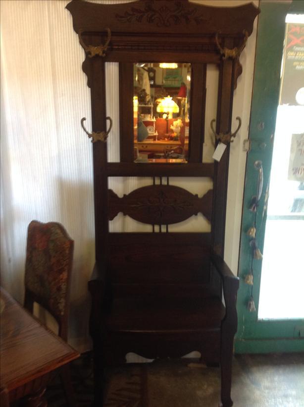 Solid Oak Hallstand/Entry Bench