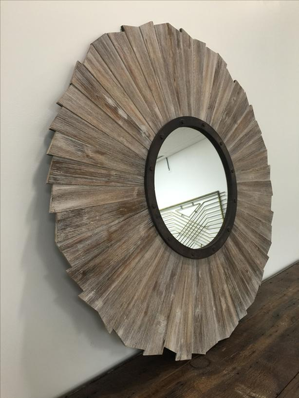 Distressed Wood/Metal Wall Mirror