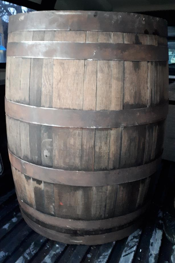 Vintage collectible Whiskey Barrel