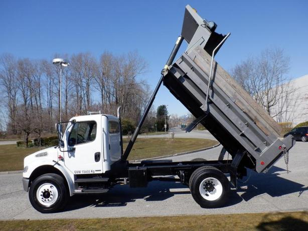 2005 Freightliner M2 106 Medium Duty Air Brakes Dump Truck 12 foot Box Diesel