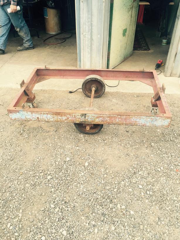 4 Vintage Industrial Carts on Castors