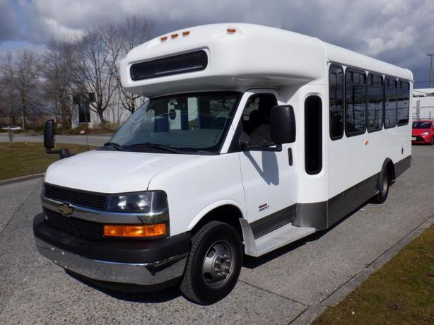 2013 Chevrolet Express G4500 18 Passenger Wheel chair Bus Diesel
