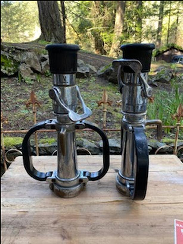 2 Vintage Fire Nozzles