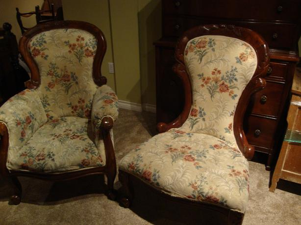 Pair of Victorian Styled Parlour Chairs