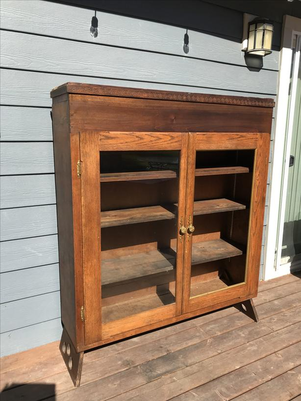 Craftsman style display cabinet-Duncan