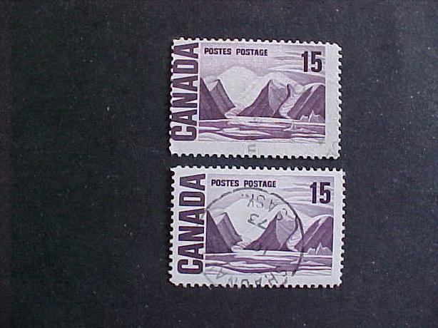 SCOTT 463 MISPERFORATED 15 CENTS BYLOT ISLAND