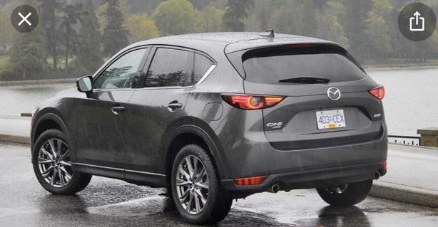Grey Mazda SUV today on Dewdney Ave
