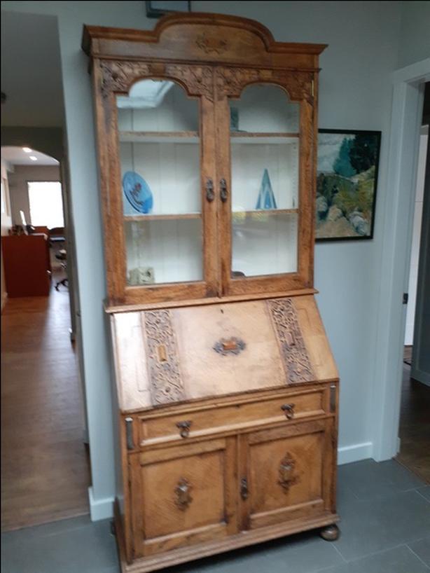 Antique Oak Desk / Display Case
