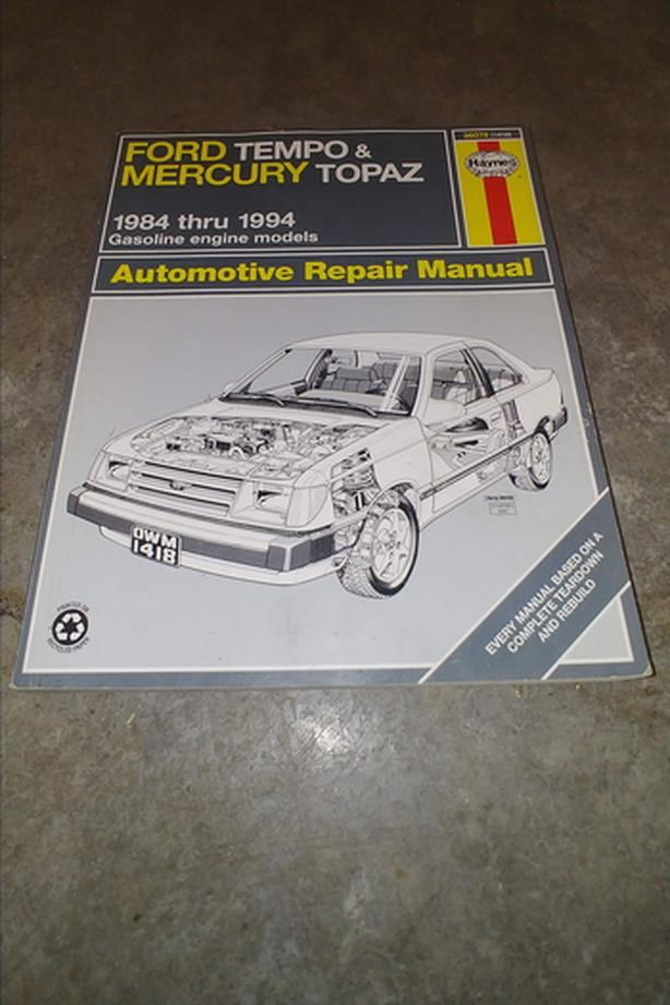 1984-1994 Ford Tempo & Mercury Topaz Repair Manual