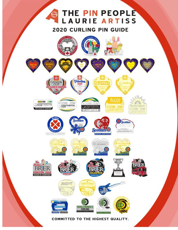 WANTED: Kingston 2020 Brier Curling Pins