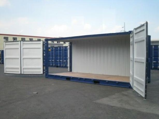 BRAND NEW SHIPPING CONTAINERS OPEN SIDE AND DOUBLE DOORS, 20 AND 40 FT UNITS